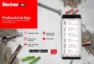fischer Profissional App – O Guia Digital de Soluções de Fixação