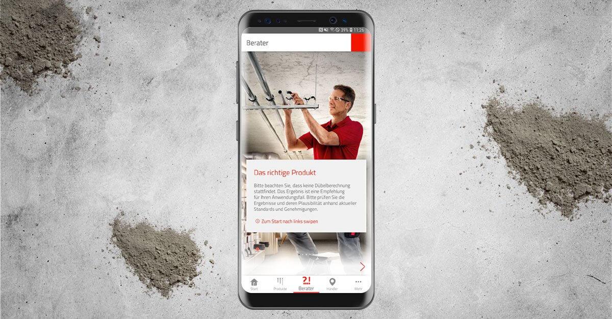 Immer das richtige Befestigungsprodukt auf der Baustellen- dank der fischer Handwerker-App.