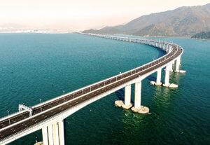 So befestigt fischer die längste Meeresbrücke der Welt