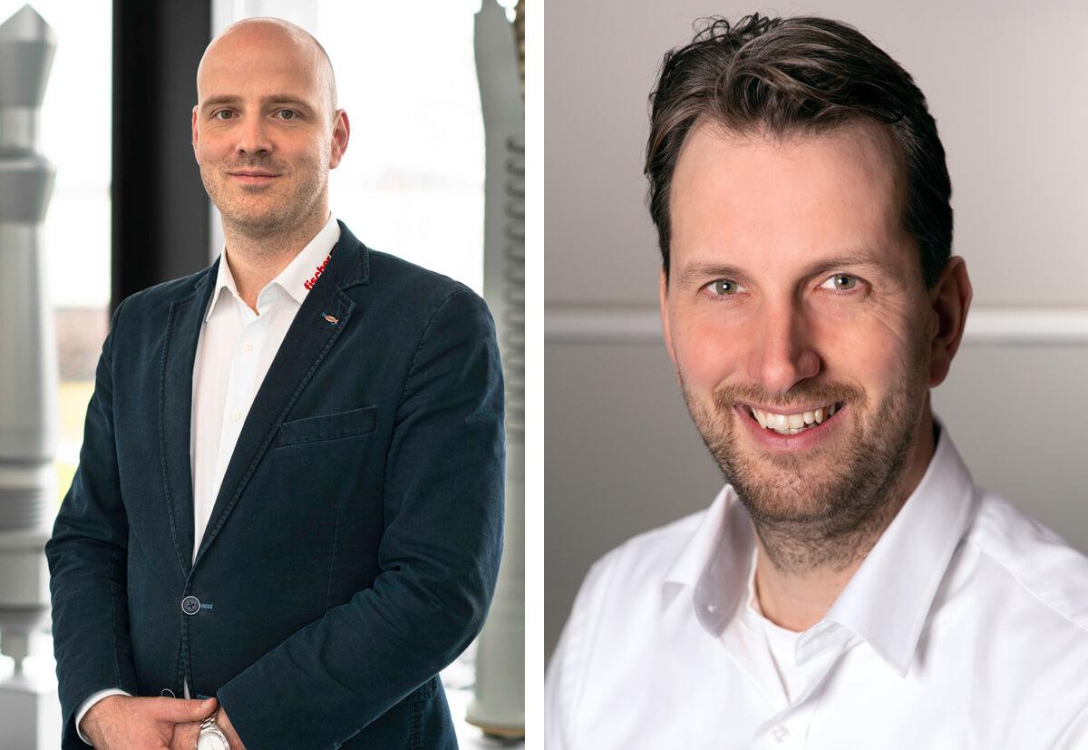 Die fischer Experten für BIM: Emil Kral (l.), Projektleiter BIM, und Jan Popma, Technischer Manager für die Benelux-Länder.