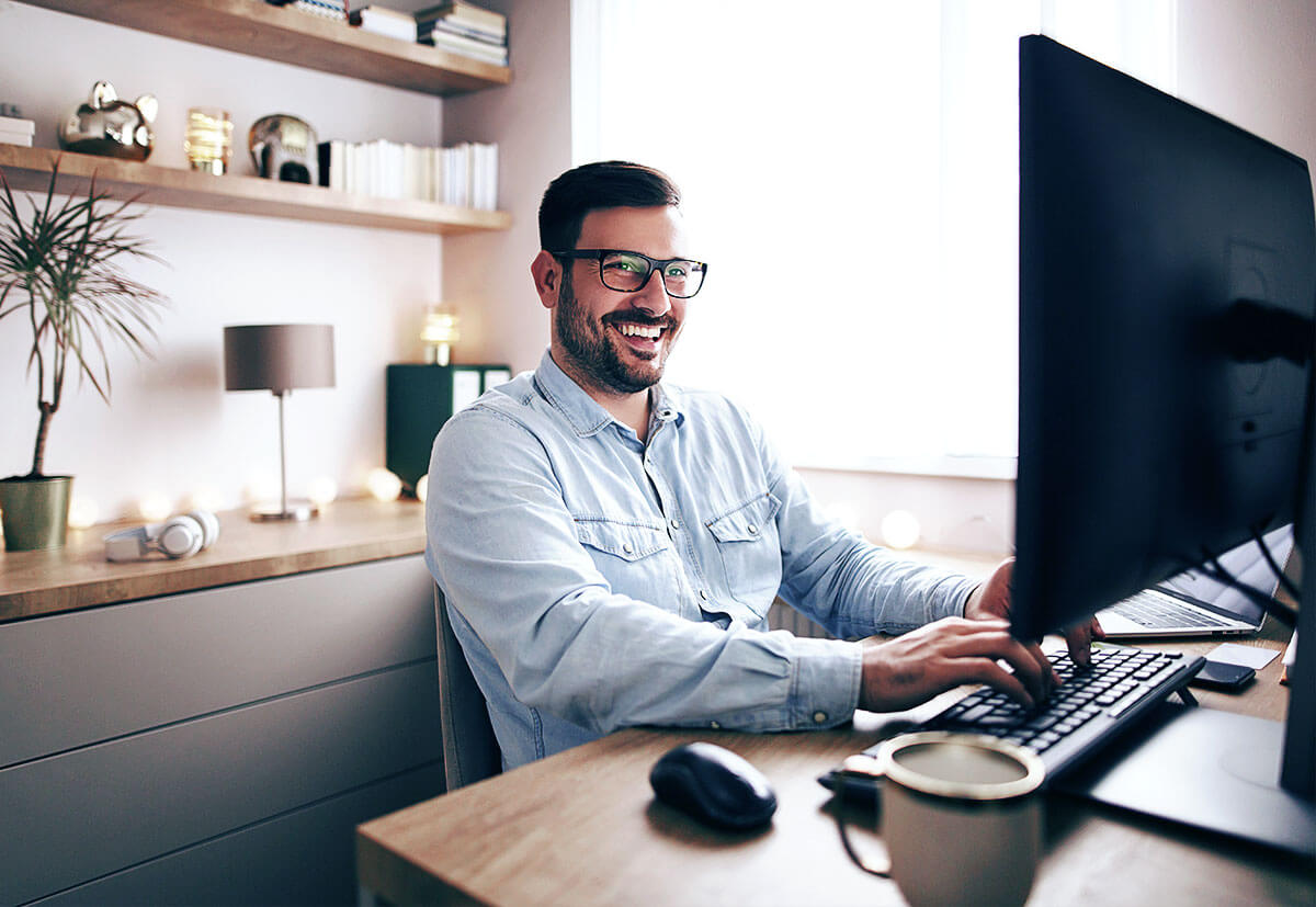 Auch im Home Office kann man produktiv arbeiten.