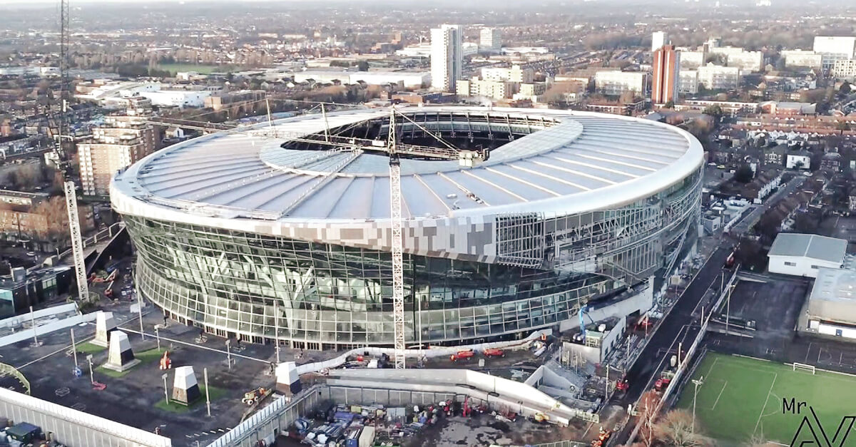 he new Tottenham Hotspurs Stadium in London. fischer supplied the fixing solutions for the facade and the interior fitout as well as the mechanical and electrical systems.
