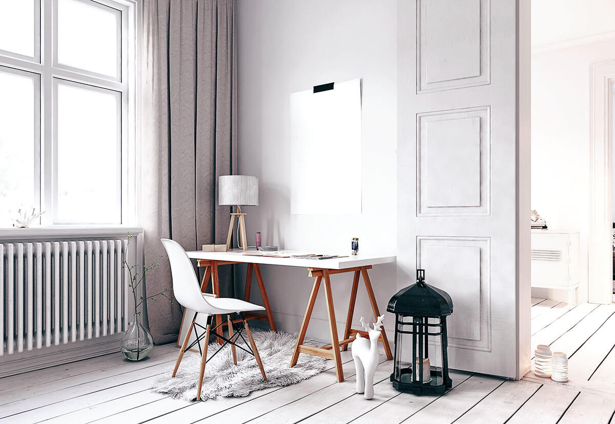 a comfortable look is neccessary for your home office
