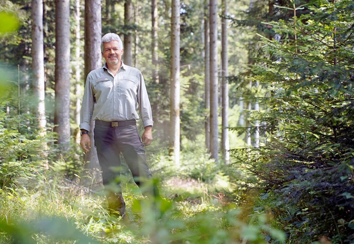 The forester Ferdinand Schorpp in his territory – the Waldachtal forest.